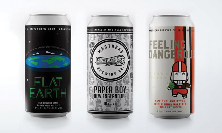 Masthead Brewing - Flat Earth, Paper Boy and Feeling Dangerous cans