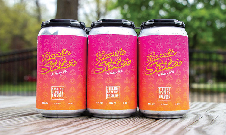 Sibling Revelry Favorite Sister hazy IPA cans