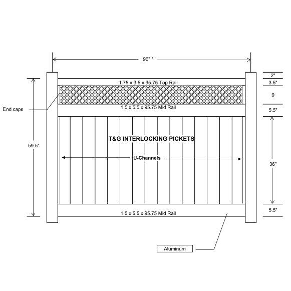 Vinyl Fence With Lattice Top Accent Ohio Fence Company