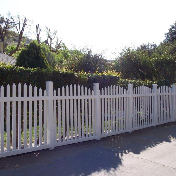 Vinyl Picket Fence Arched Ohio Fence Company