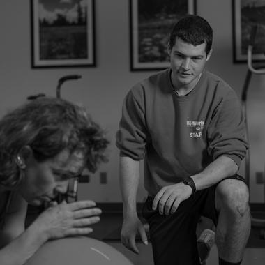 Kelley McAndrews works in WellWorks, OHIO's employee wellness program, in 2015. Photo by Ben Wirtz Siegel, BSVC '02