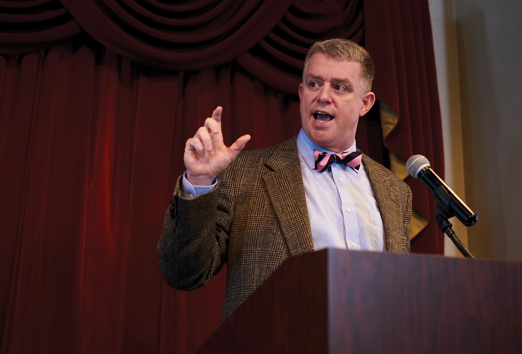 Associate professor of History Robert Ingram fosters dialogue and debate in American politics. Photo by Evan Leonard BSVC '18.