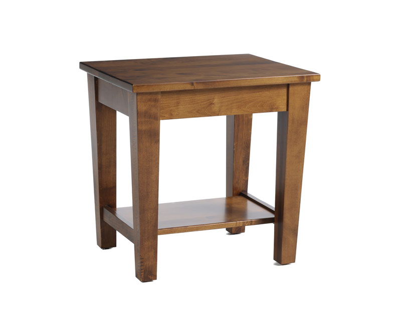 Urban Shaker End Table In Solid Hardwood