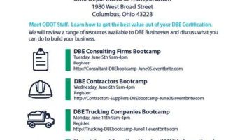 ODOT to host DBE Orientation Bootcamp on Sept  18 – OhioMBE