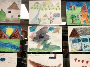 Children's artwork at Casa Alitas. Photo by Kate Wentland.