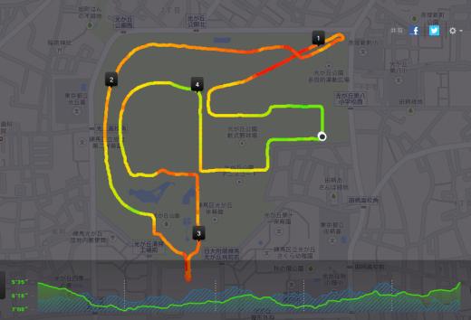 20140504光が丘 myコース5k Nike