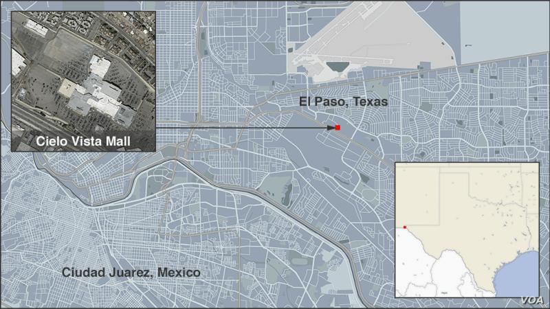 Map of Cielo Vista Mall, El Paso, Texas