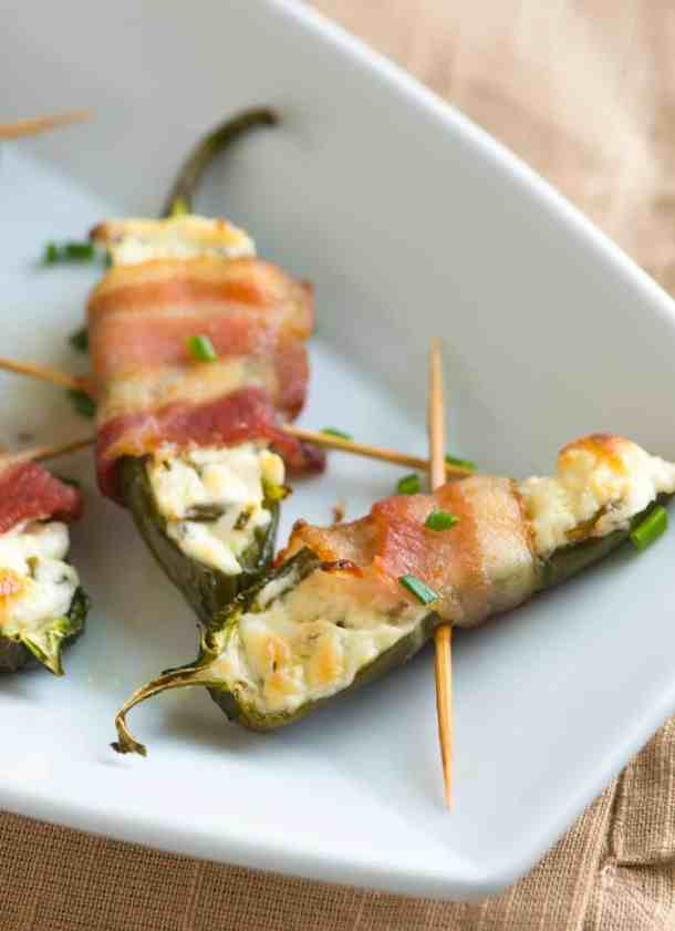 Bacon wrapped Jalapeno Poppers- Crazy Simple Super Bowl Food Ideas Guaranteed to Wow| ohlade.com