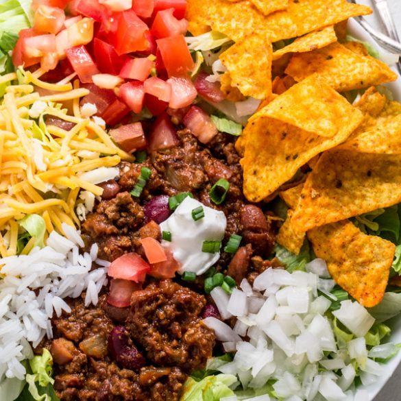 Taco Salad- Crazy Simple Super Bowl Food Ideas Guaranteed to Wow| ohlade.com