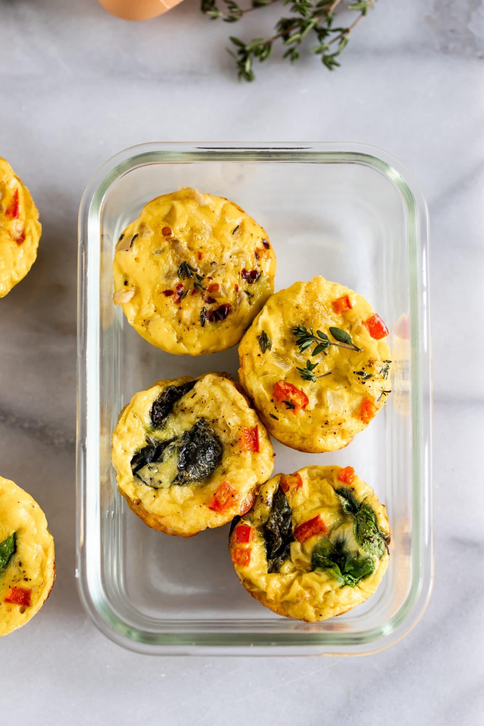 Egg Muffins- healthy meal prep recipes. Ohlade.com