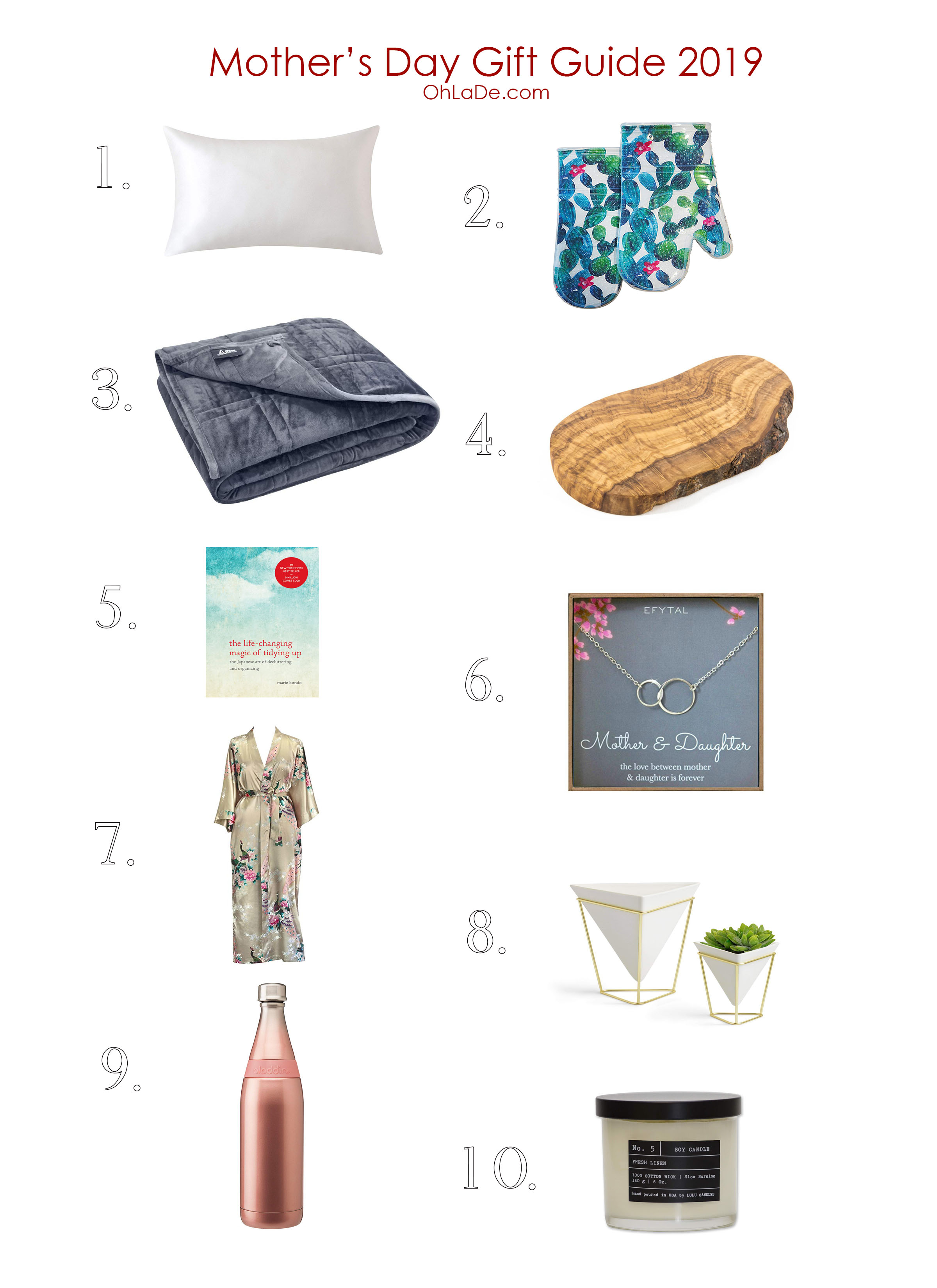 Mother's Day Gift Guide 2019- Ohlade.com