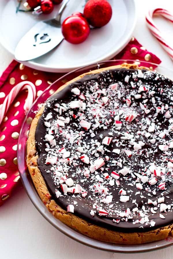 Peppermint Bark Sugar Cookie Pie