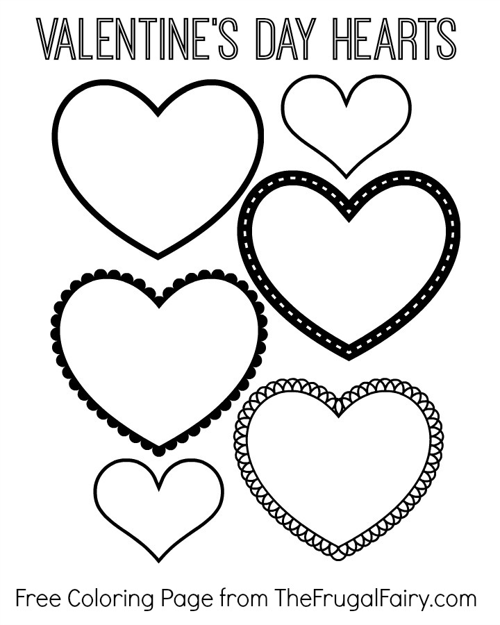 Valentines Day Hearts Coloring Page