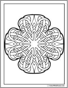 Irish Knot Coloring Page