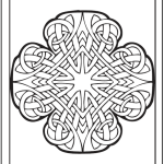 Irish Knot Coloring Page