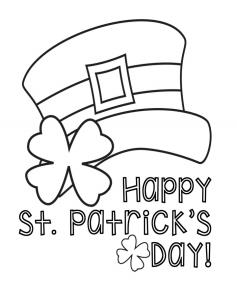Saint Patricks Hat Coloring Page- Ohlade.com