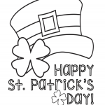 Saint Patricks Hat Coloring Page- Ohlade.com
