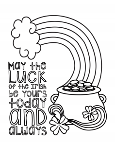 May the Luck Of the Irish- Coloring Page- Ohlade.com