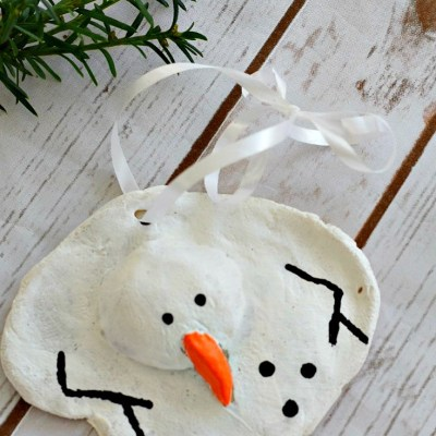 Melted Snowman Salt Dough Ornament