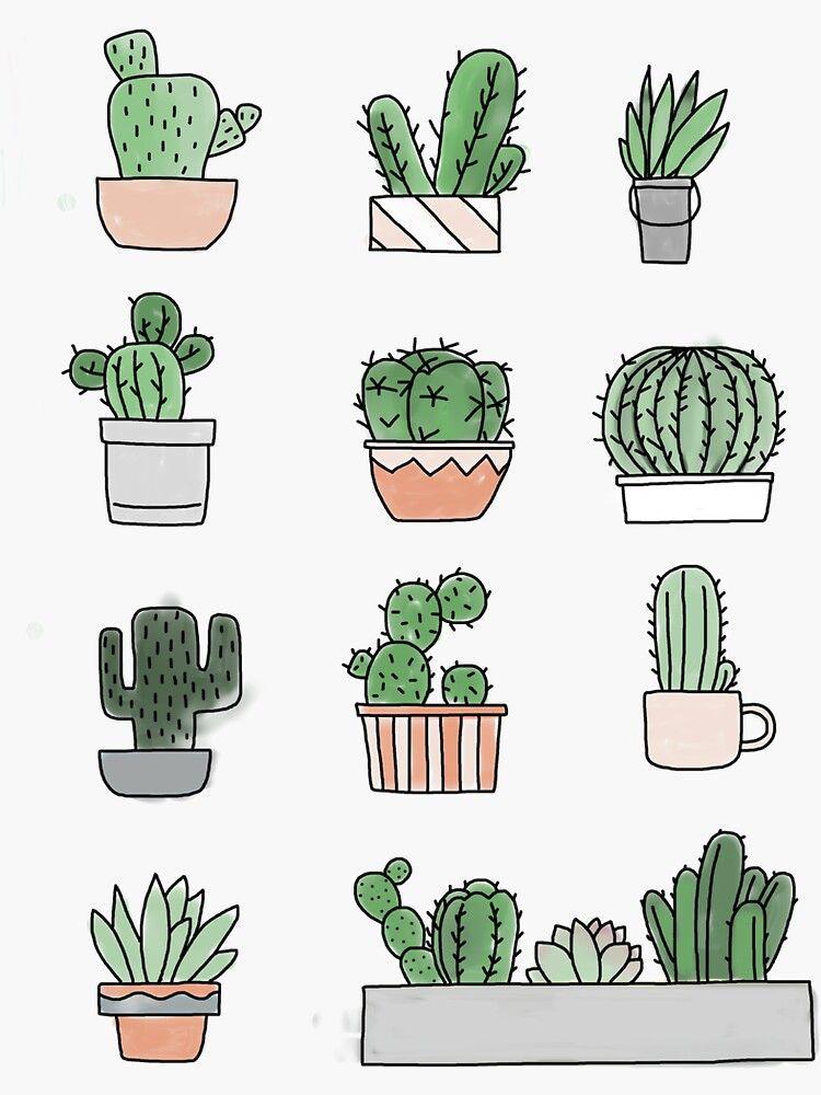 printable cactus stickers