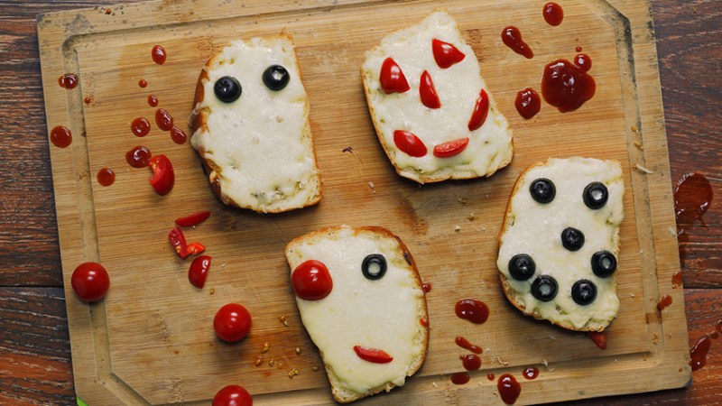 halloween cheese toast
