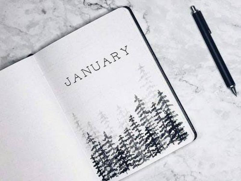january bullet journal cover