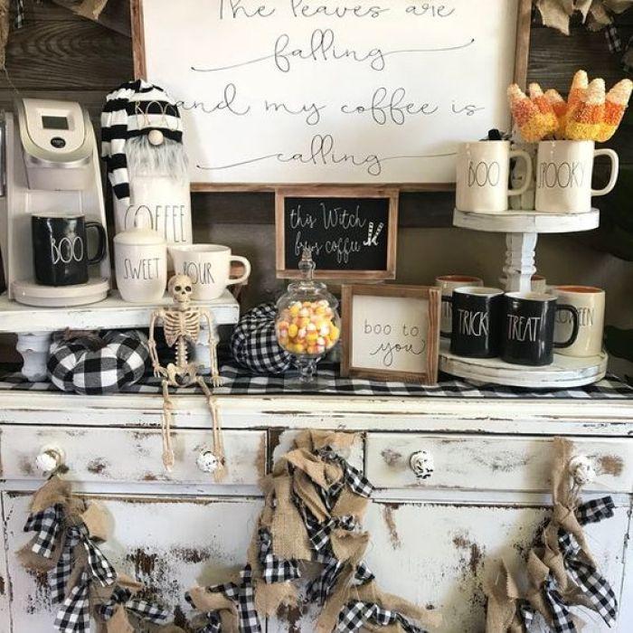 halloween coffee bar stand idea
