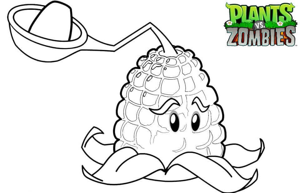 Plants vs. Zombies coloring pages