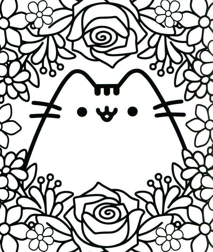 Kitty Kawaii Coloring Page