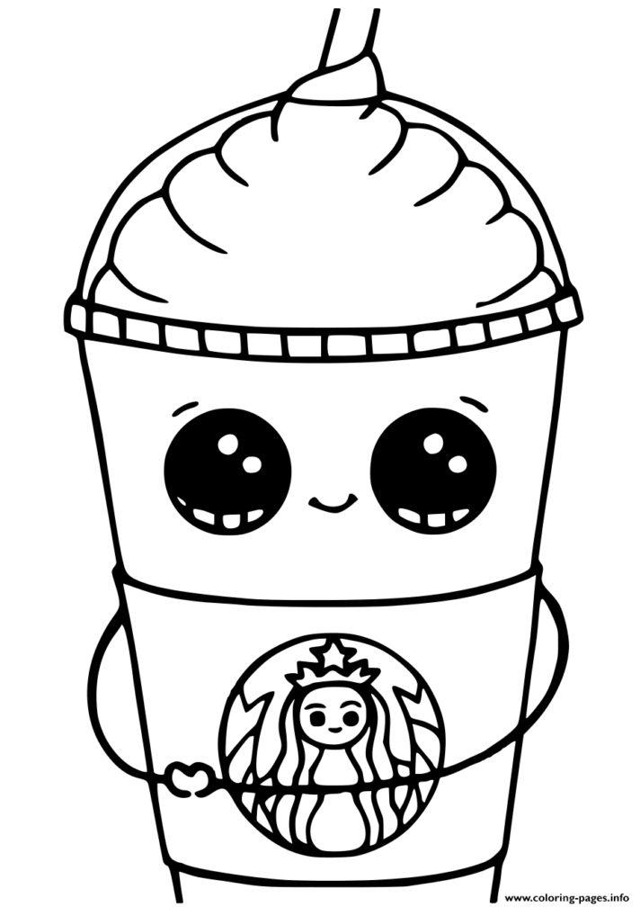 Starbucks Kawaii Coloring Page