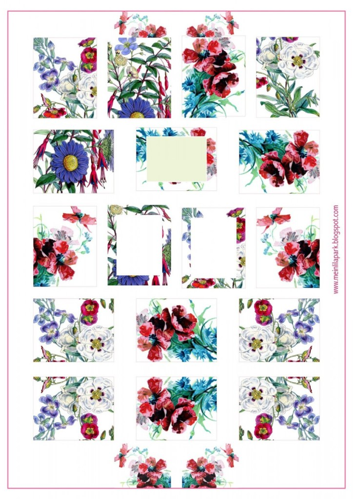 Free Red Floral Printable Planner Stickers