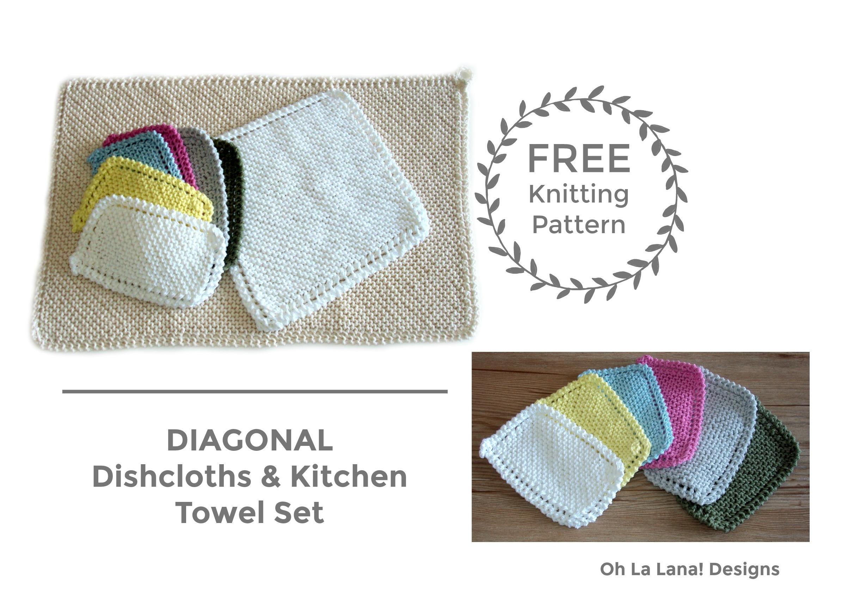 DIAGONAL Dishcloth and Kitchen Towel FREE PATTERN