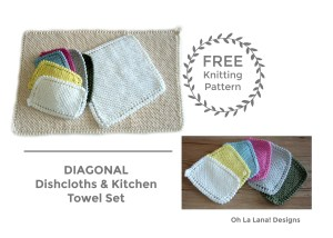 DIAGONAL Dishcloth and Kitchen Towel FREE PATTERN