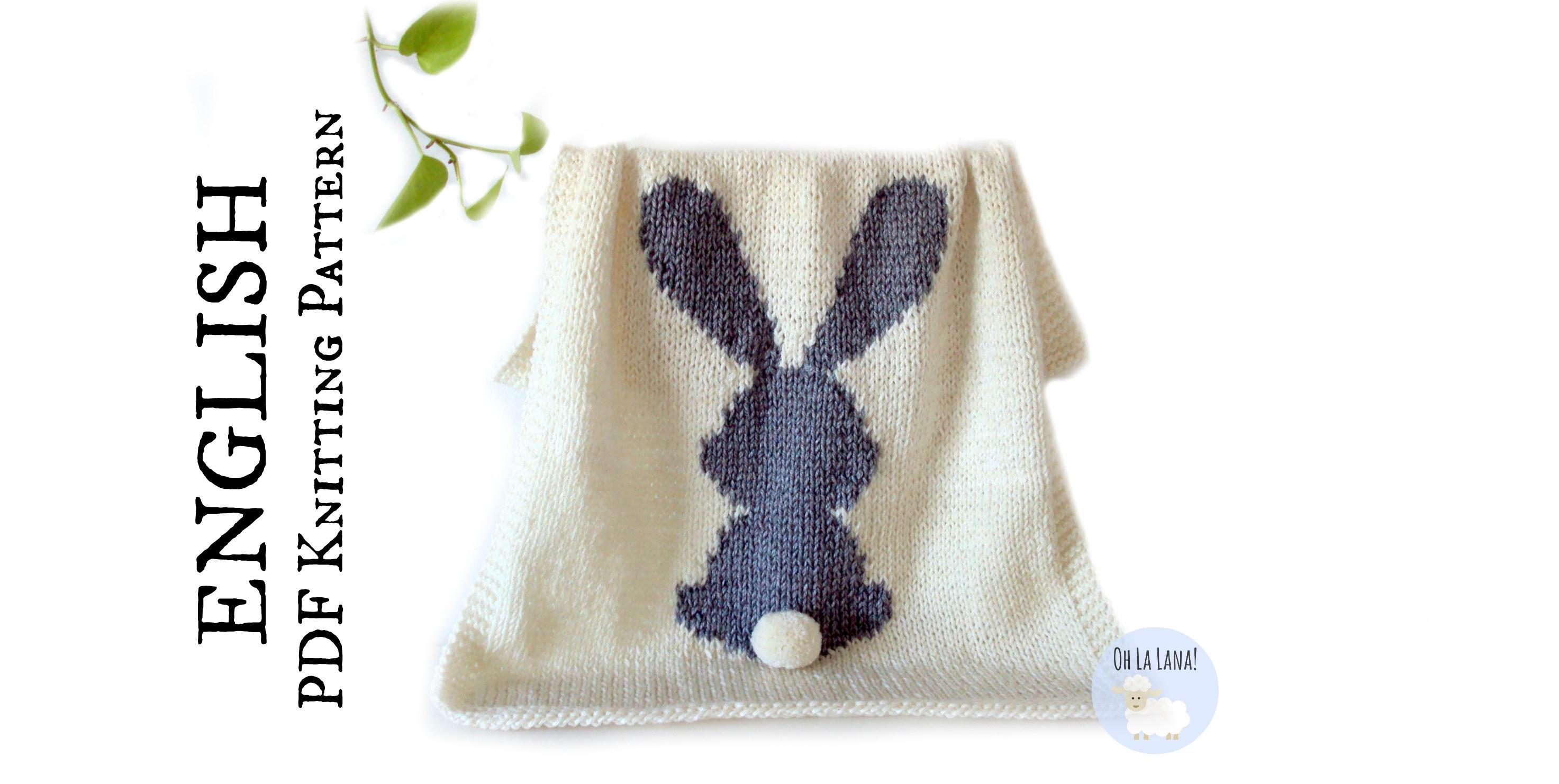 dff7e8557ff HOW TO  INTARSIA - BUNNY BABY BLANKET PATTERN - Oh La Lana! Knitting Blog