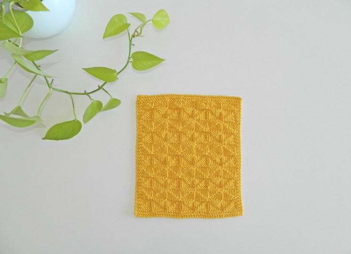 BLOCK 8 12 blocks Xmas knitted blanket OhLaLana dishcloth free pattern