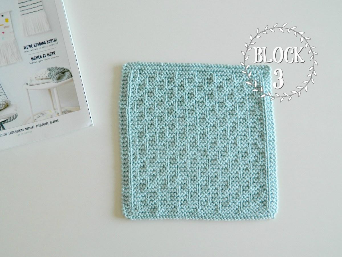 "BLOCK 3 for ""12 blocks of Xmas"" knitted blanket - OhLaLana!"