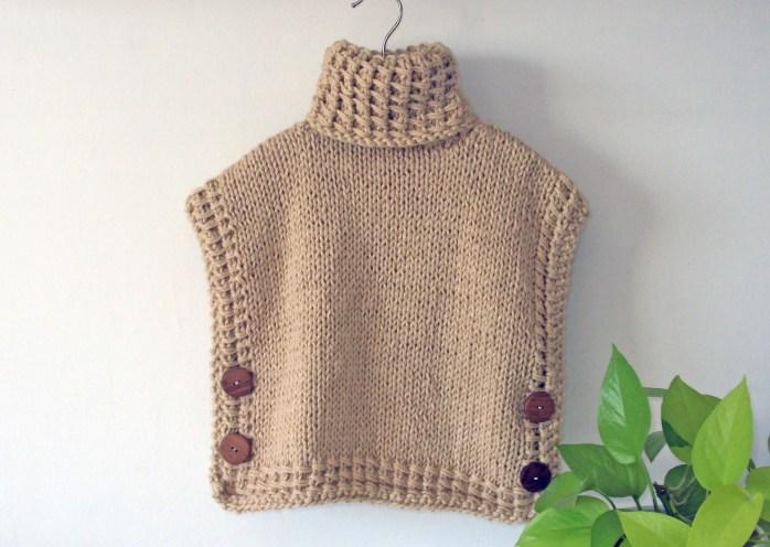 BARILOCHE Vest Pullover Poncho knitting pattern