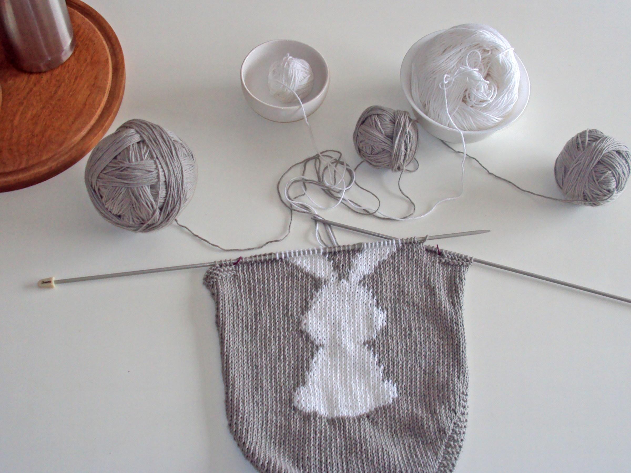 rabbit baby romper knitting pattern