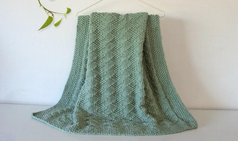Zig Zag Seed blanket knitting pattern free