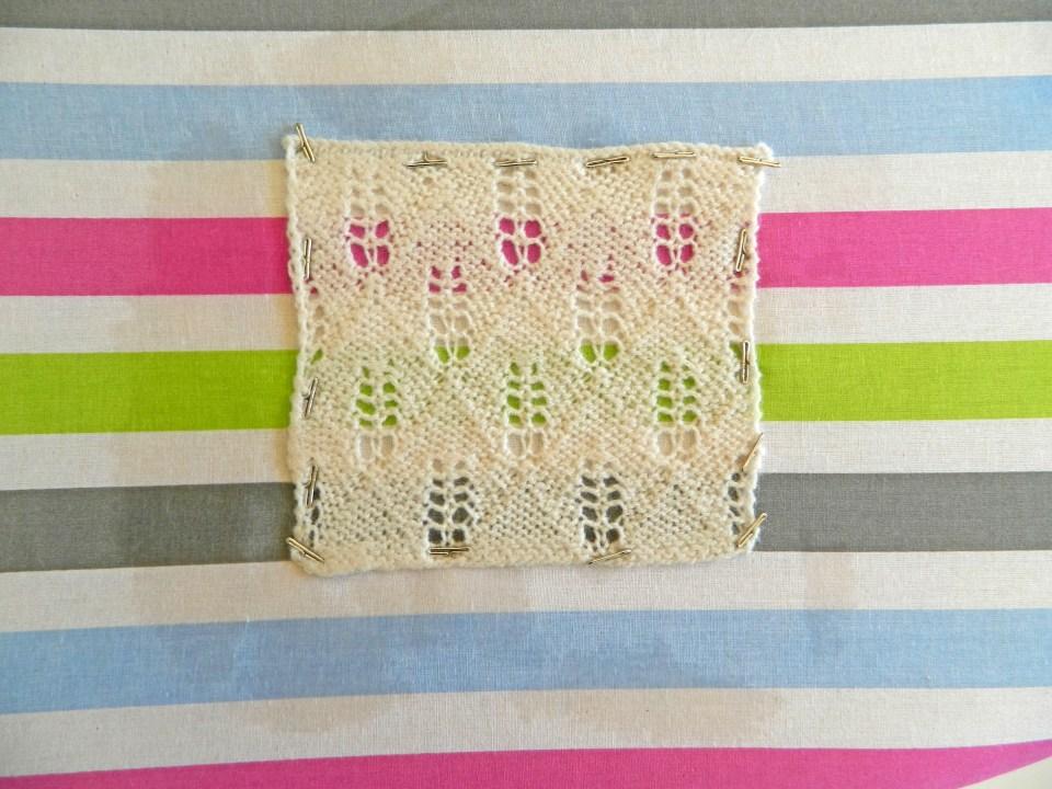 acrylic yarn blocking