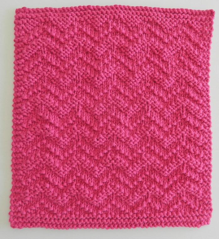 Chevron knitting pattern chevron afghan square OhLaLana dishcloth free pattern