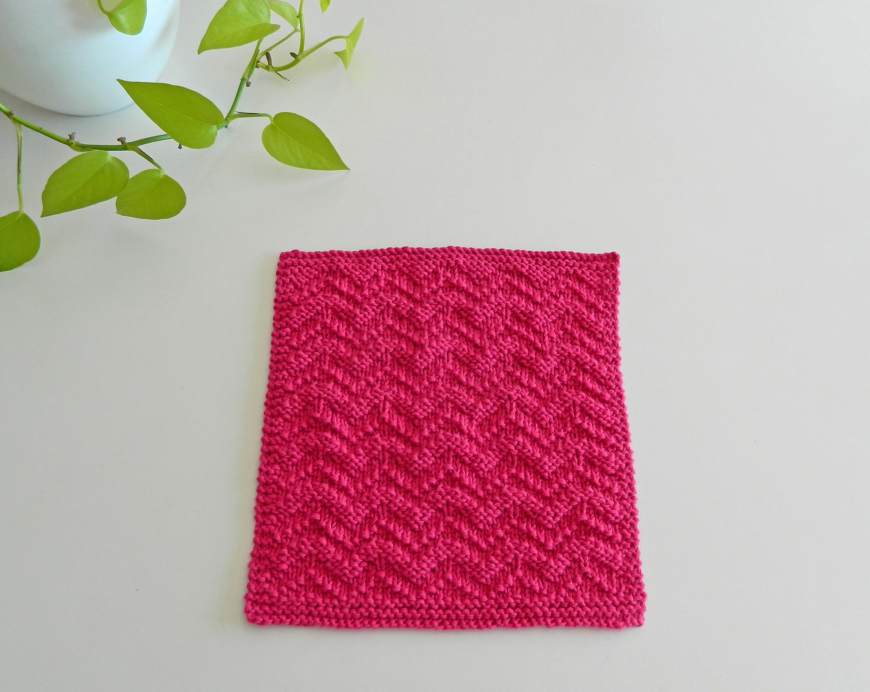 Chevron knitting pattern chevron afghan square OhLaLana dishcloth free pattern