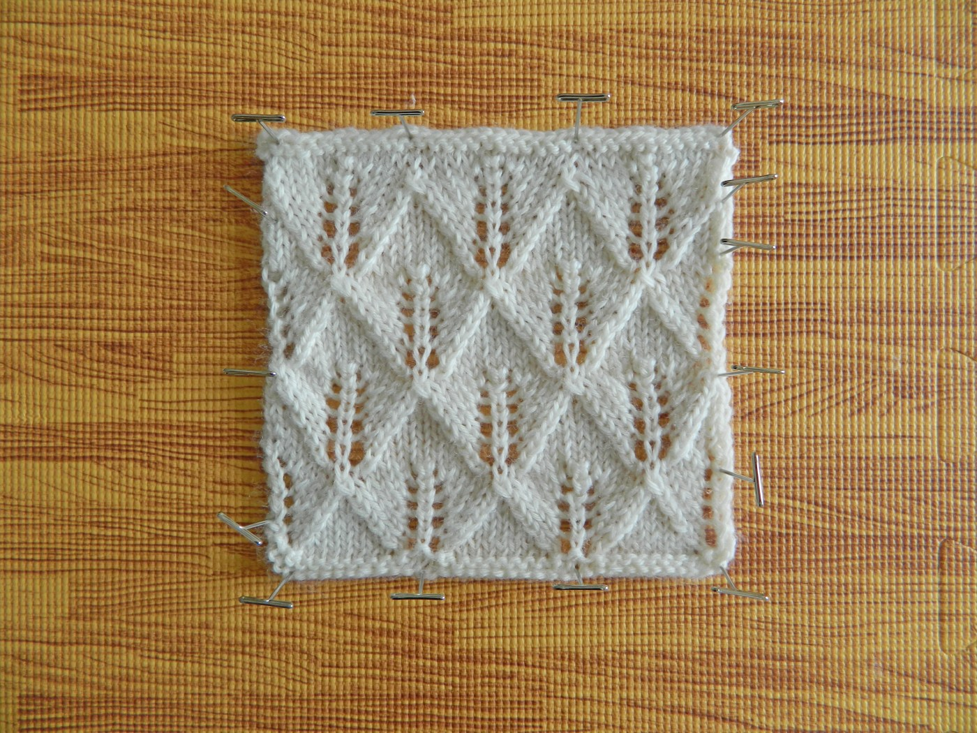 blocking knitting step by step