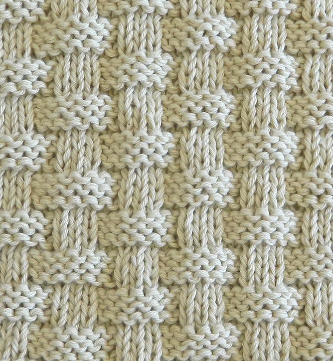 BASKET knitting pattern BASKET stitch pattern ohlalana