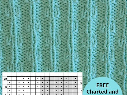 CHAINS knitting pattern CHAINS stitch pattern ohlalana