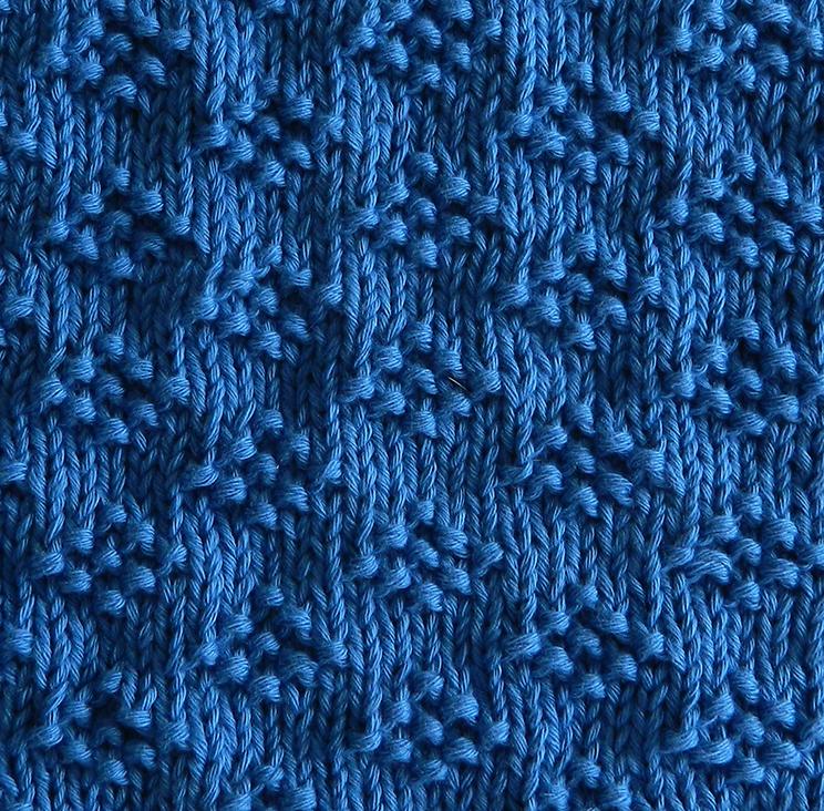 LITTLE GEMS stitch knitting pattern 52 SQUARE PICKUP knitted blanket OhLaLana dishcloth free pattern