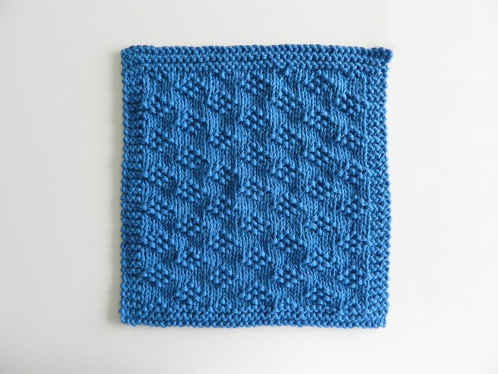 LITTLE GEMS stitch knitting pattern 52 SQUARE PICKUP knitted blanket OhLaLana dishcloth free pattern