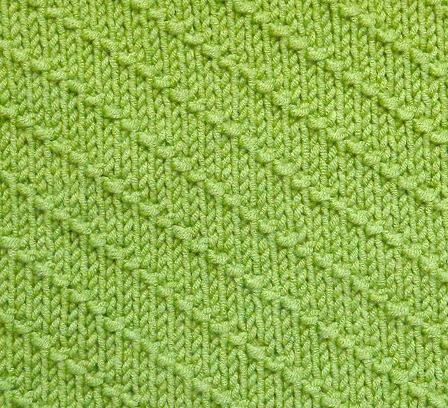 DIAGONALS stitch knitting pattern 52 SQUARE PICKUP knitted blanket OhLaLana dishcloth free pattern