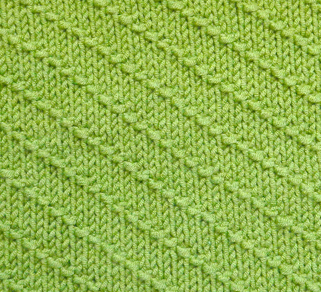 DIAGONALS stitch knitting pattern 52 SQUARE PICKUP knitted blanket OhLaLana dishcloth free pattern