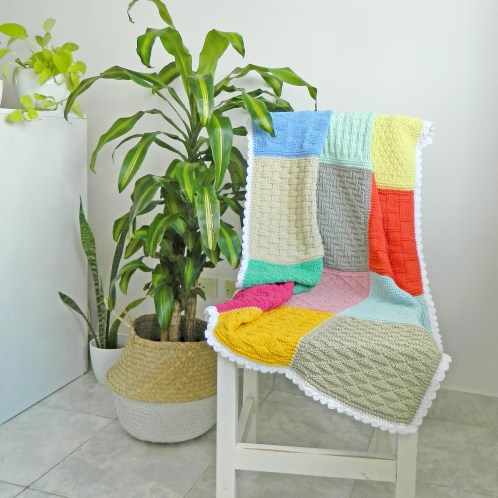 beginner sampler blanket knitting pattern